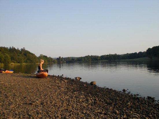 Loch Ken Holiday Park: evening paddle down loch Ken