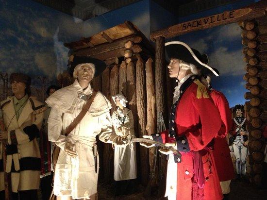 Indiana War Memorial : Surrender of Fort Sackville