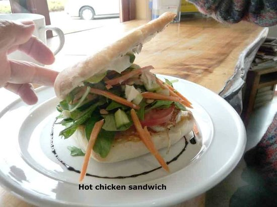 Sandfly Cafe: Hot Chicken Sandwich