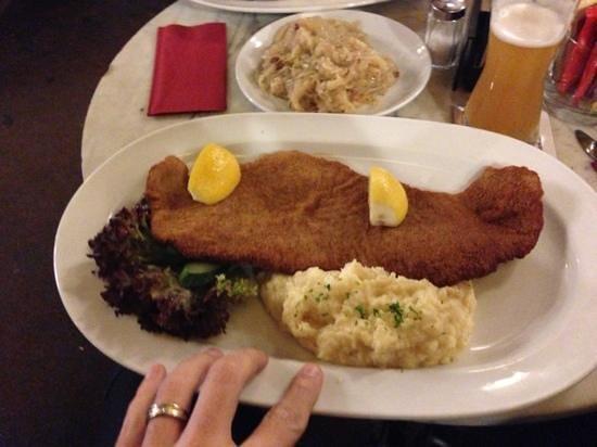 Beersaloon am Ku'damm : The biggest and best schnitzel!