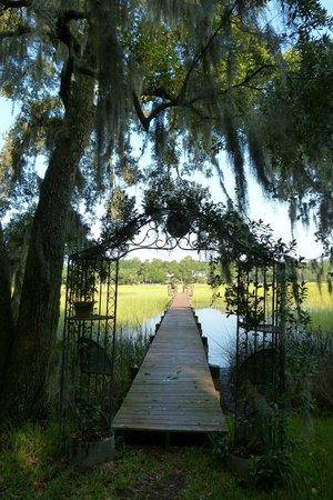 Plantation Oaks Inn: Looking at the wetlands from the rear garden