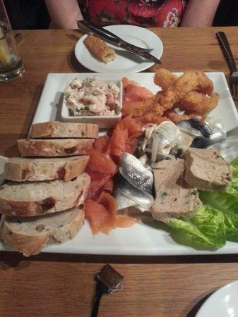 The Ostrich Restaurant: The excellent seafood platter. A real mix of flavours and textures.