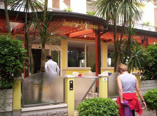 Hotel Metron : cancelleto di ingresso hotel