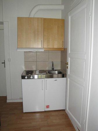 Best Western Kampen Hotell : piccola cucina ma dotata di tutto il necessario