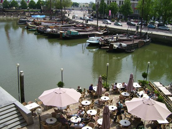 Stayokay Rotterdam: panoramic view from the exit door