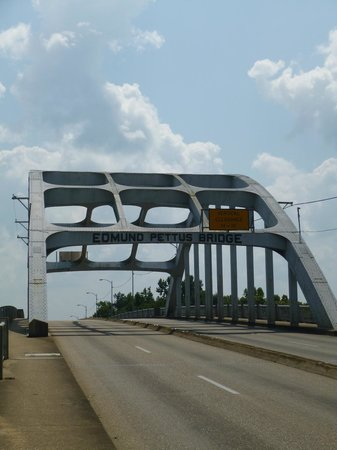 Selma, AL: Edmund Pettus bridge - where marchers were attacked in 1965