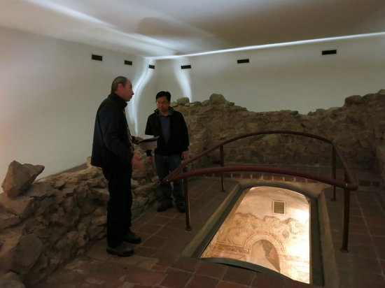 Early Christian Mausoleum: Standing on a well preserved tomb