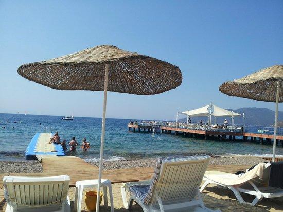 nice beach - Picture of Latanya Park Resort, Yaliciftlik ...