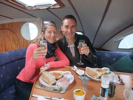 Cafe Cruises: Below decks enjoying lunch