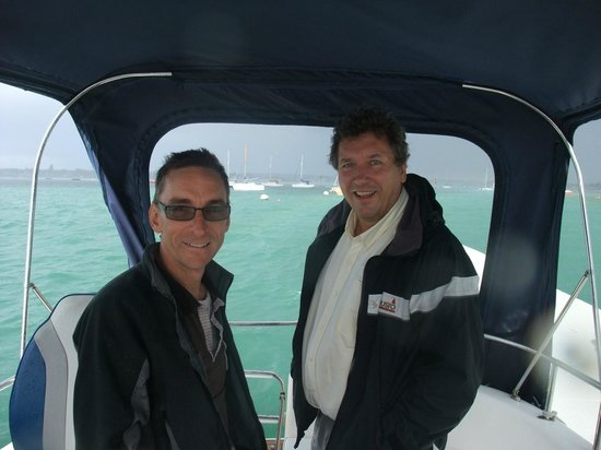 Cafe Cruises: My husband and Skipper Victor - lovely chaps!