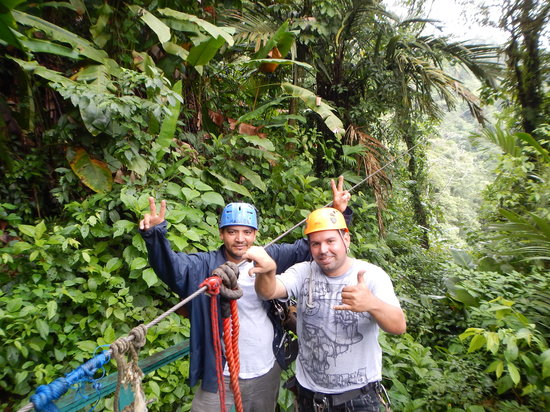 Arenal Canopy Adventure (ATHICA Canopy Tour): Gustavo and Marlo...our comedic guides