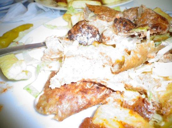 Leamington Fish Bar: burnt meat
