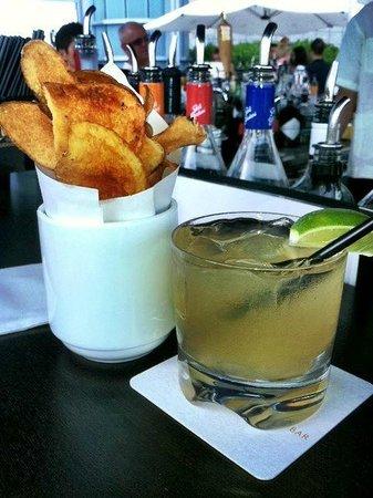 InterContinental Boston: Jalapeno Margarita & fresh-made chips