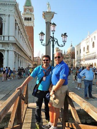 Tour Leader Venice: My husband and Igor