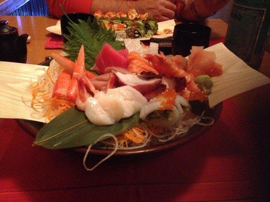 Benihana: Sashimi plate quality average
