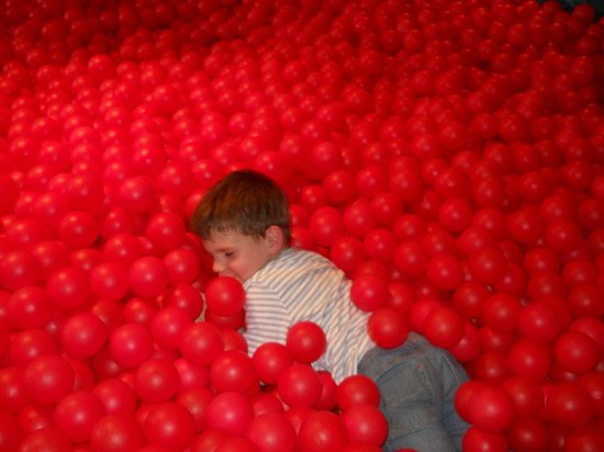 Edaville Family Theme Park: Cranberry ball pit, what fun!