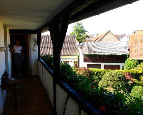 Hotel de Charme Zum Schiff : Courtyard side