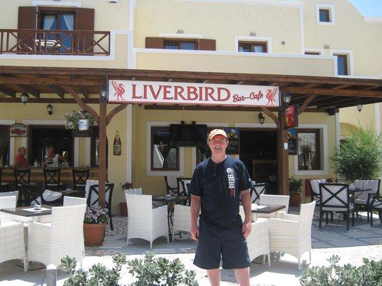 Liver Bird Cafe : me true red santorini june 12