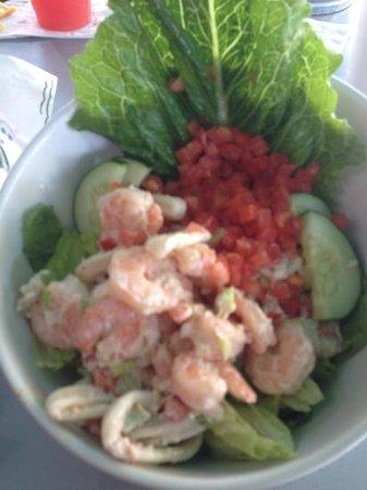 LandShark Bar & Grill Myrtle Beach : seafood salad
