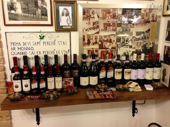 Ristorante Jacopone : vini rossi regionali e nazionali