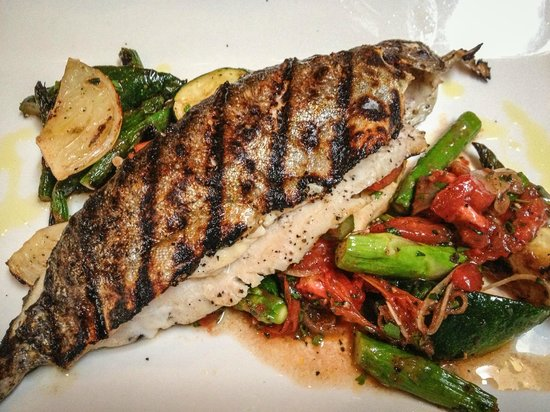 Local Restaurant & Bar : Grilled Idaho Trout
