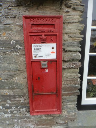 The Old Post Office: the Victorian Post Box (you see the V R ... that tells you it was from her reign)
