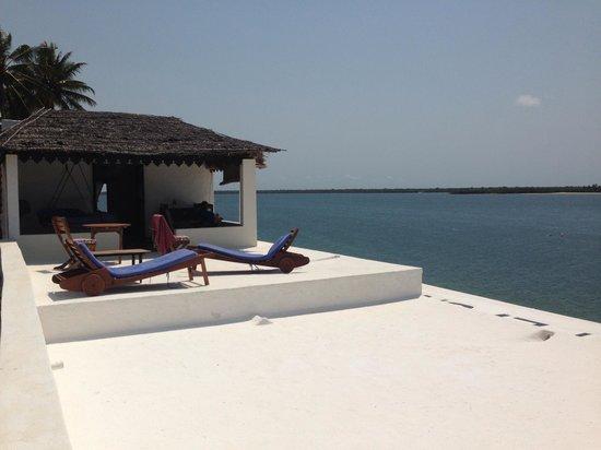 "Peponi Hotel: ""Top's"" patio."