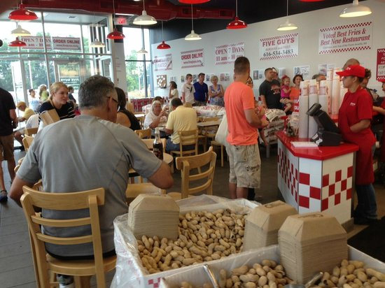 Five Guys: Inside restaurant