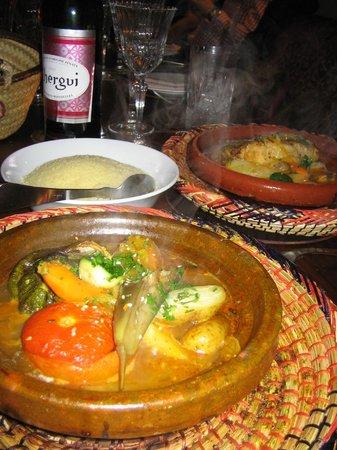 Momo : Veggie Tagine and sea bass tagine