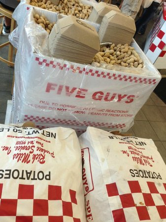 Five Guys: They lots of peanuts and potatoes