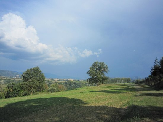 Tenuta Santa Cristina: Heavy thunderstorm