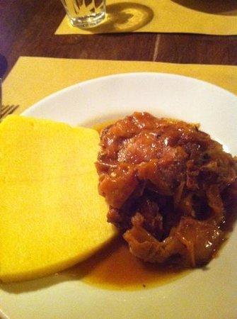 Osteria Alba Nova dalla Maria: chicken and polenta