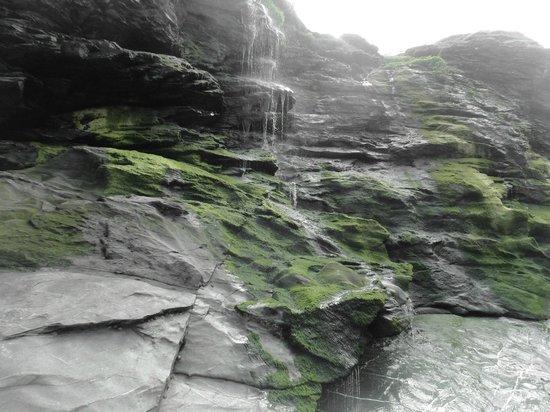 Merlin's Cave: beach