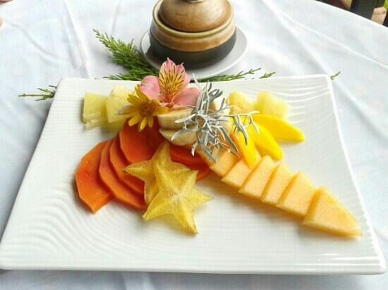 Posada Don Elicio: Frutas. Desayuno