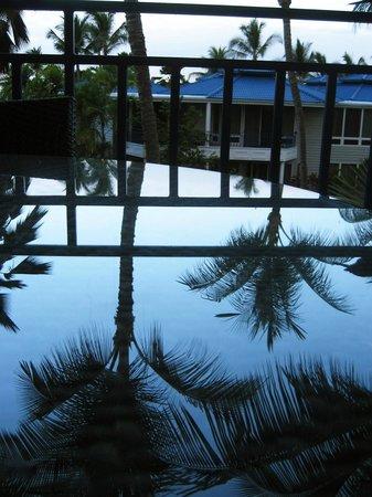 Holua Resort at The Mauna Loa Village: Reflection on the balcony