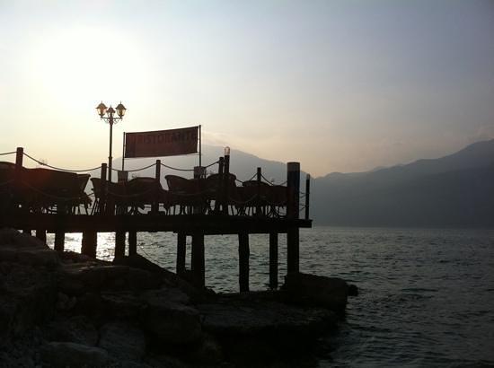 Belfiore Park Hotel: il pontile al tramonto