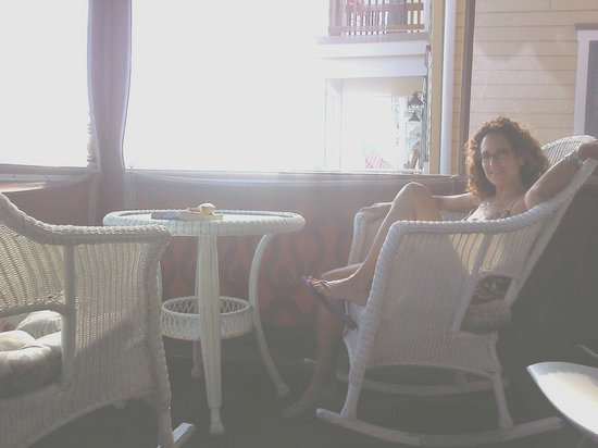 The Ocean Plaza: On the dining porch - breakfast is always good!