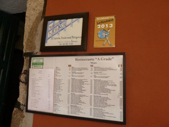 A Grade : Their restaurant signage