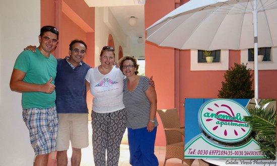 Anemolia Apartments: nice &happy hosts = happy clients :)
