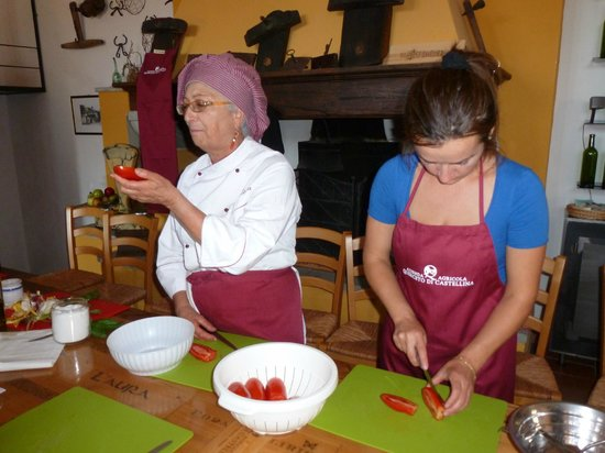 Querceto di Castellina: Fresh ingredients and herbs from the garden