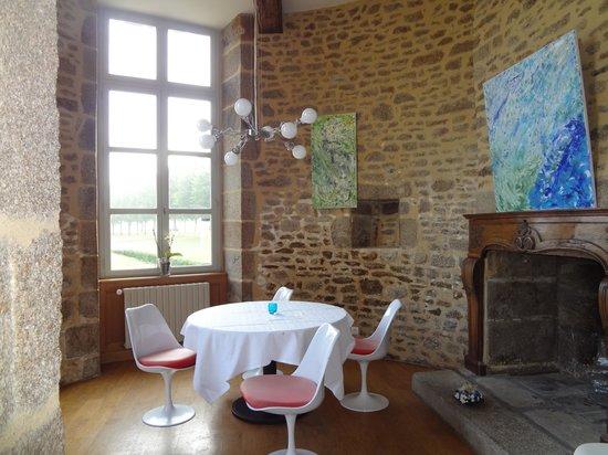 Chateau du Bois-Guy : Turret where we had dinner