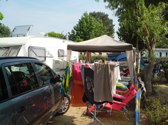 Camping Les Genets : Our Cramped pitch....