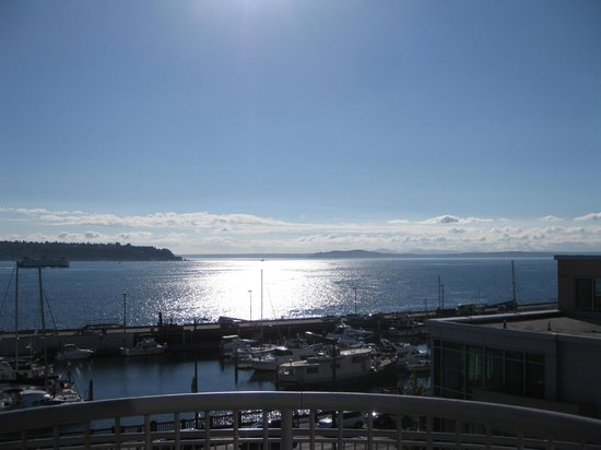 Seattle Marriott Waterfront: View from our balcony.
