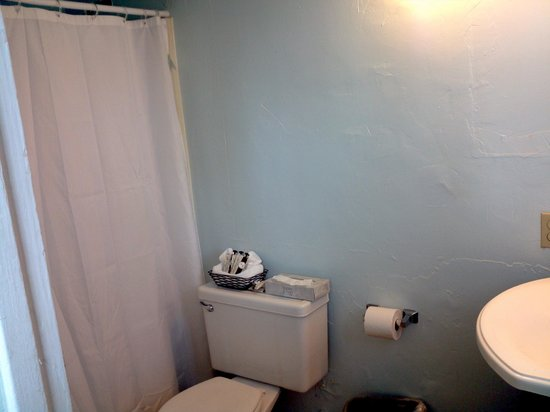 Beach Haven: shower, tub, and toilet...older but clean.