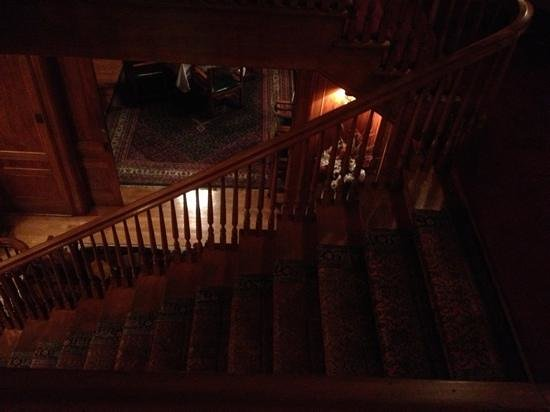 The Rutherglen Mansion: looking down from the second story