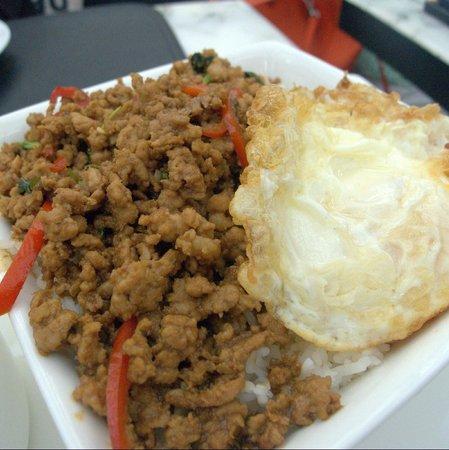 Greyhound Cafe: Rice with minced pork at Greyhound