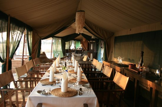 Lemala Ewanjan Tented Camp: Dining area