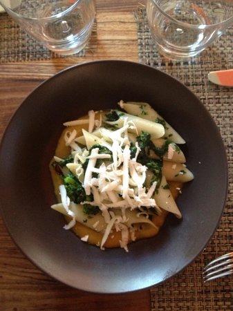 Vicoletto San Francisco : Gluten free Rigatoni , broccoli rabe, butternut squash and ricotta salata