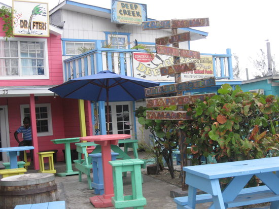 Arawak Cay : This is what most of the restaurants look like in town. Love the colors!