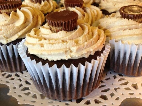 Talk of the Town: Chocolate Peanut Butter Cupcake